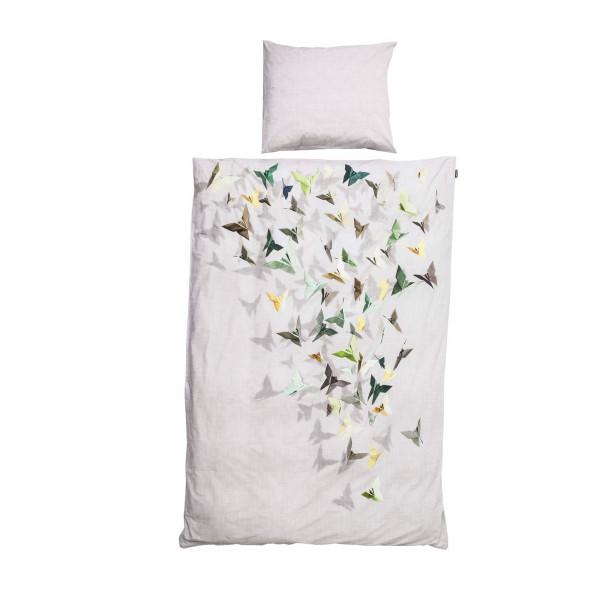 Bettwäsche bunte Papierschmetterlinge