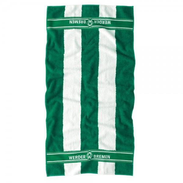 Werder Bremen Fan-Handtuch Blockstreifen