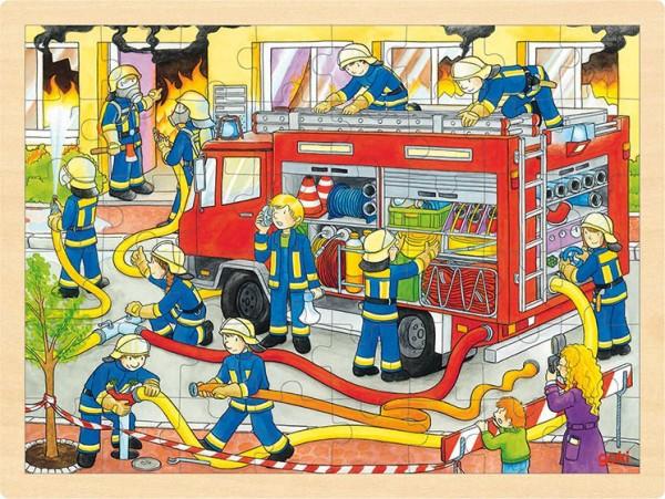 Gollnest & Kiesel Einlegepuzzle Feuerwehreinsatz