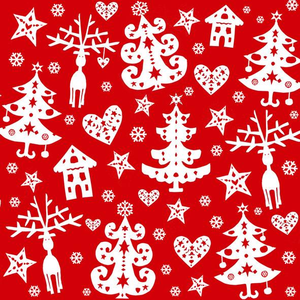 Weihnachtsservietten Schwedisch rot