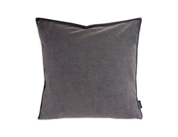 Proflax Kissenhülle Visto, Farbton Taupe, samtartige Oberfläche, 45x45 cm, mit Reißverschluss