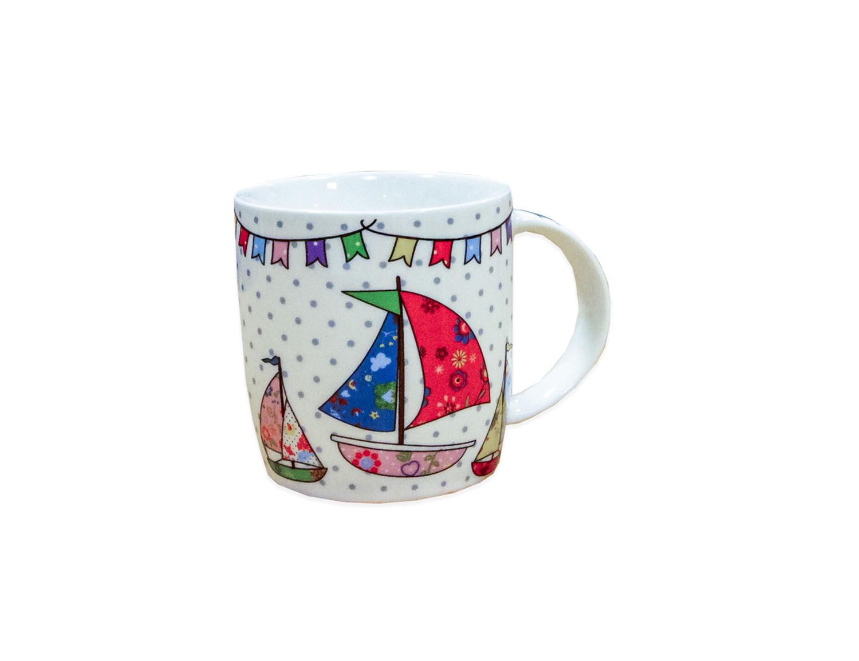 Clayre Eef Becher Kaffeetasse Segelboote   Heim & Wohntextilien