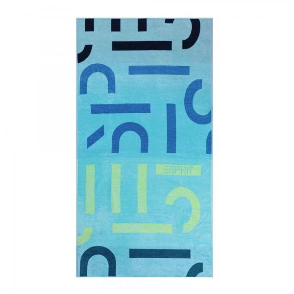 Esprit Strandtuch Letter Beach ocean-blue - 002 100x180 cm