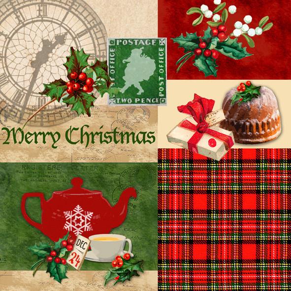 Weihnachtsservietten Merry Christmas