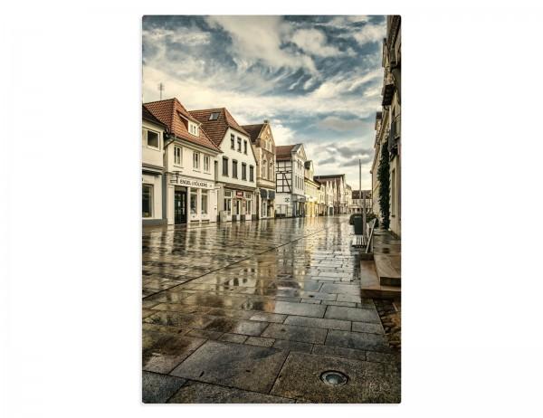 Fotografie auf Leinwand, Motiv, Verden Altstadt nach dem Regen, 75x50 cm