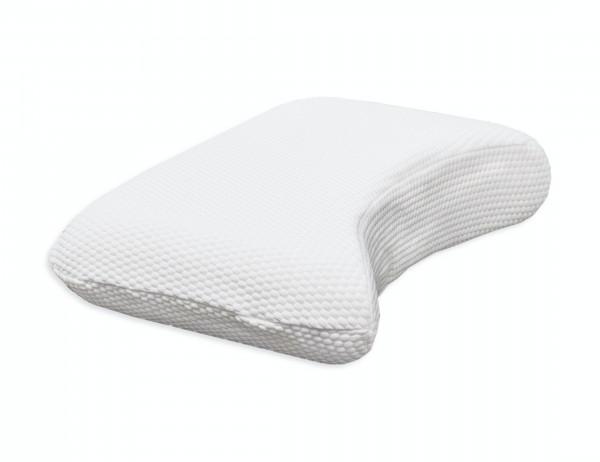 """Mit dem ergonomischen Schlafkissen """"Maan"""" ist ein erholsamer Schlaf in jeder Position möglich"""