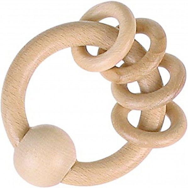 Gollnest & Kiesel Greifling mit 4 Ringen, natur