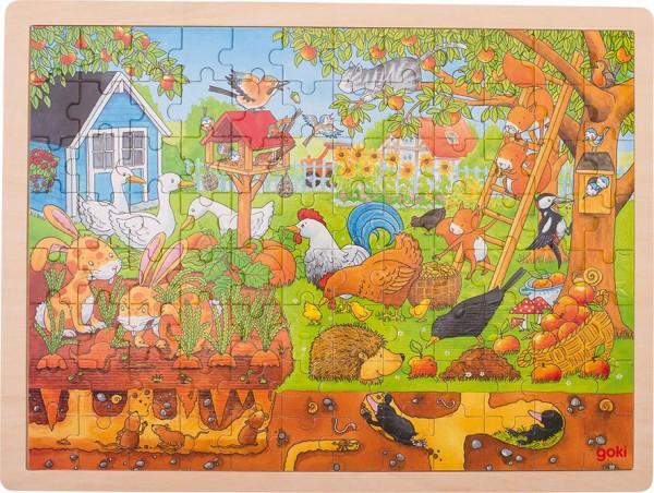 Gollnest & Kiesel Einlegepuzzle Unser Garten über und unter der Erde