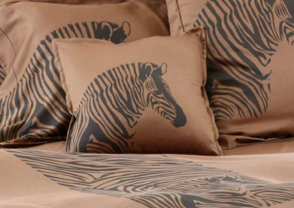 Anemos Bettwäsche Zebra Kissenbezug Dunkelbraun