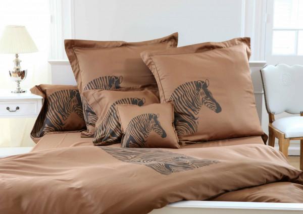 Anemos Bettwäsche Zebra Dunkelbraun