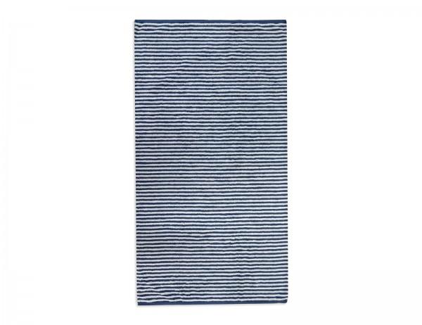 CAWÖ, Duschtuch, Handtuch, 70x140 cm, 50x100cm, blau-weiß gestreift, reine Baumwolle, Frottier