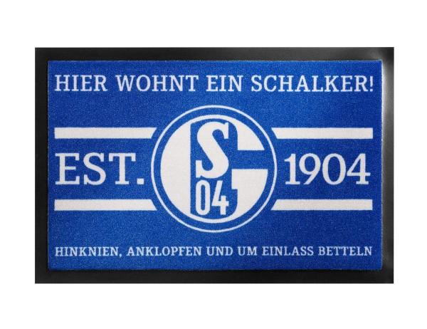 FC Schalke 04 Fußmatte Hier wohnt ein Schalker
