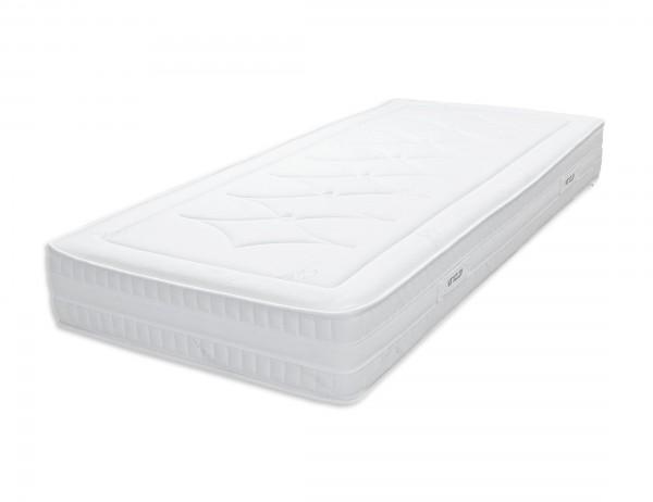 Schlafwelten Kaltschaum-Matratze, 90x100cm/100x200cm, Höhe 20cm, Bezug mit Reißverschluss,96% Polyester, 3% Baumwolle,1% Silver