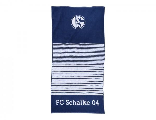 FC Schalke 04 Duschtuch Streifen marine