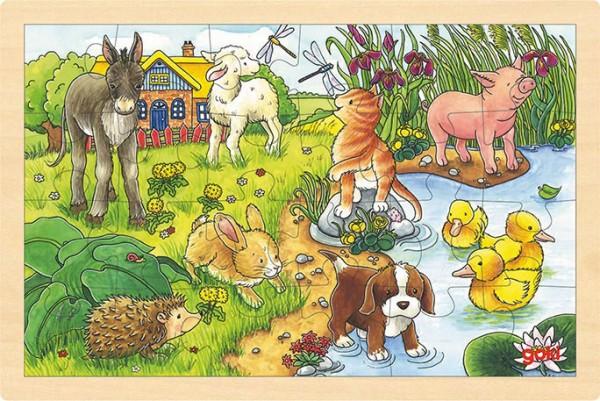Gollnest & Kiesel Einlegepuzzle Tierkinder II