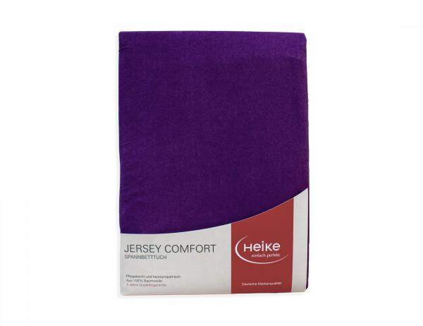 Heike Spannbetttuch Jersey Comfort brombeere 90x190 cm