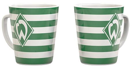 Werder Bremen Tasse Streifen-quer