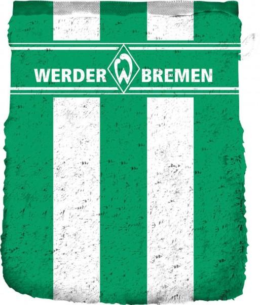 Werder Bremen Waschhandschuh Blockstreifen