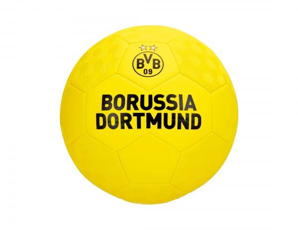 BVB Fußball, Größe 5, Borussia Dortmund Schriftzug, BVB-Emblem, geriffelt