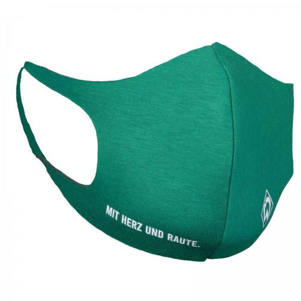 SV Werder Bremen Behelfs-Maske mit Herz und Raute