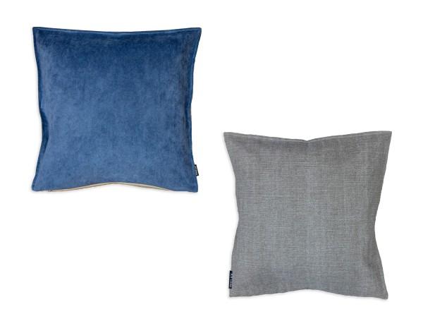 Proflax Kissenhülle Brook im Wendedesign, in den Farben weiß, blau und limette, 45x45 cm