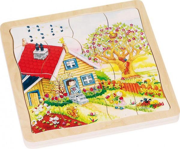 Gollnest & Kiesel Schichtenpuzzle Jahreszeiten