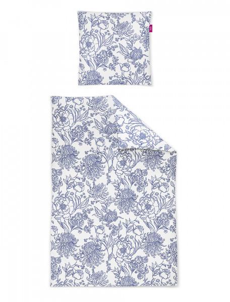 Irisette Mako-Satin Bettwäsche Corado 8946 Blau