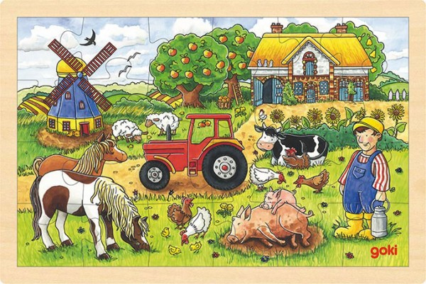 Gollnest & Kiesel Einlegepuzzle Müllers Farm