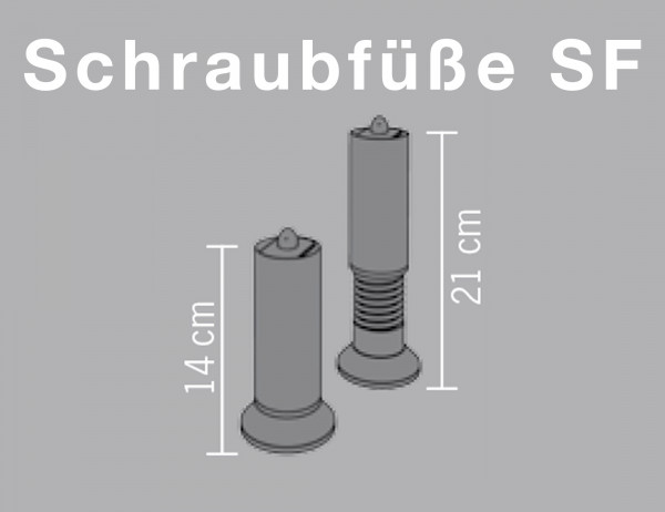 Lattoflex Schraubfüße SF