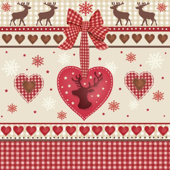 Weihnachtsservietten Herz