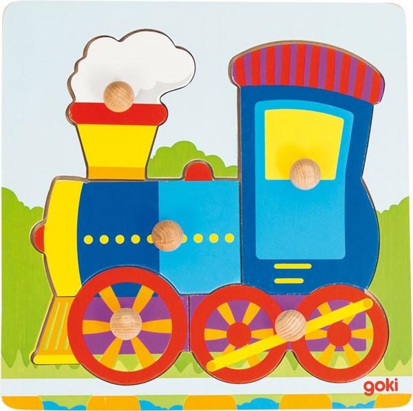Gollnest & Kiesel Steckpuzzle Lokomotive