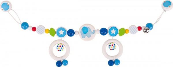 Gollnest & Kiesel Kinderwagenkette Elefant, blau
