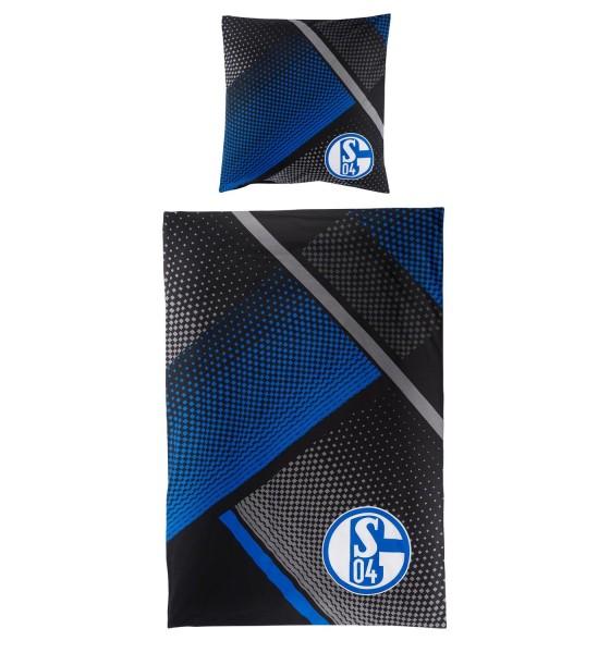 FC Schalke 04 Fan-Bettwäsche Grau-Blau
