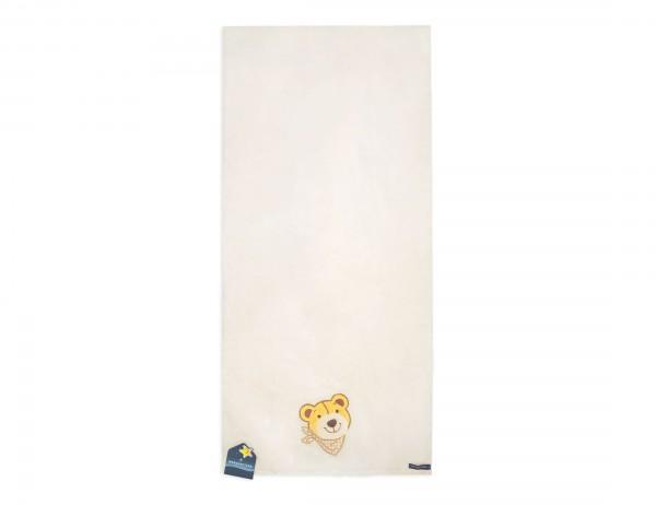 Morgenstern Kinder-Handtuch, Portrait Bär, wollweiß, 50x100 cm, Baumwolle, Frottier