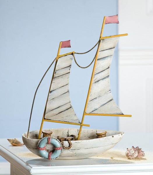 Gilde Deko Segelboot mit Metallsegel