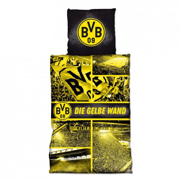 BVB Biber-Bettwäsche Gelbe Wand