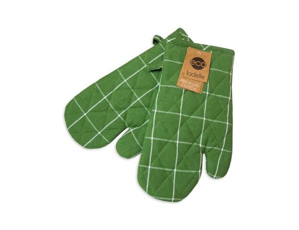 Ladelle Ofenhandschuhe Öko-Check grün