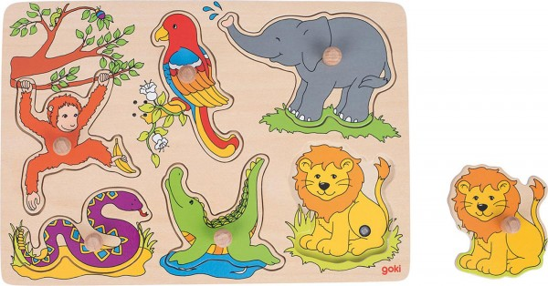 Gollnest & Kiesel Soundpuzzle Zootiere, mit Tierstimmen