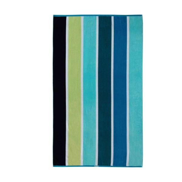 Esprit Strandtuch Multistripe Beach ocean blue - 002 100x180 cm