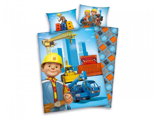 Baby-Bettwäsche Bob der Baumeister mit Baufahrzeugen