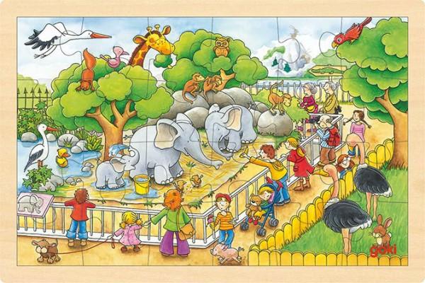 Gollnest & Kiesel Einlegepuzzle Zoobesuch